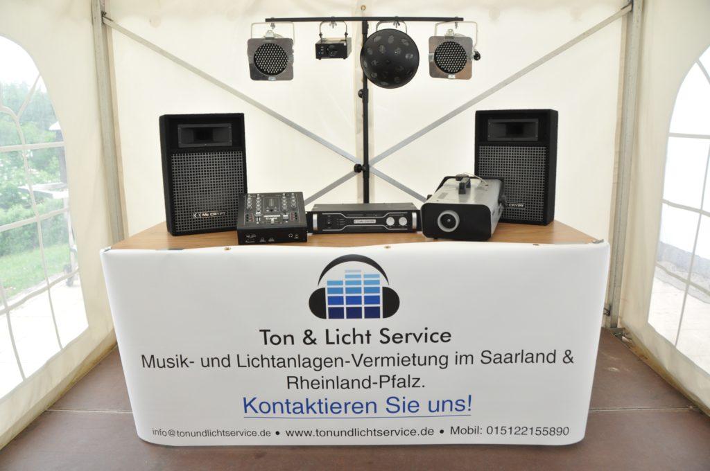 Musikanlage mieten Saarland - Veranstaltungstechnik Saarbrücken